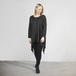 Simple Knitted Top Black
