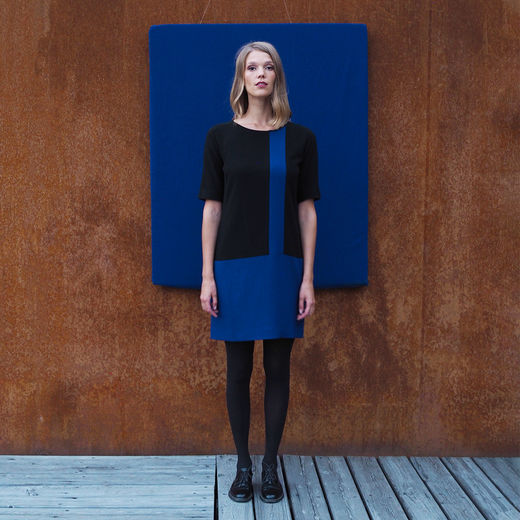 Mondrian Black & blue